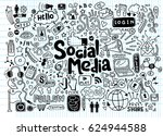objects and symbols on the... | Shutterstock .eps vector #624944588