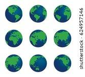 3d vector world globe set....