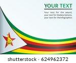 flag of zimbabwe  template for... | Shutterstock .eps vector #624962372