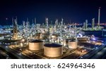 aerial top view oil and gas... | Shutterstock . vector #624964346