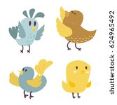 cute birds vector set... | Shutterstock .eps vector #624965492