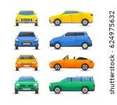flat car vehicle type design... | Shutterstock .eps vector #624975632