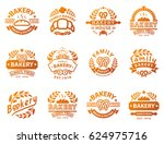 bakery badges and logo icon... | Shutterstock .eps vector #624975716