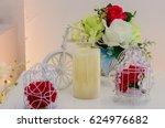 beautiful flower decoration in... | Shutterstock . vector #624976682