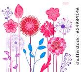 abstract design flowers. spring ... | Shutterstock .eps vector #624984146