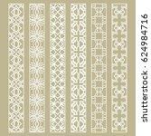 vector set of seamless borders  ... | Shutterstock .eps vector #624984716
