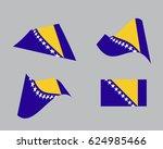 flag of bosnia and herzegovina  ... | Shutterstock .eps vector #624985466