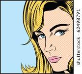 pop art woman   contains... | Shutterstock .eps vector #62498791