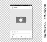 social network photo frame.... | Shutterstock .eps vector #625002998