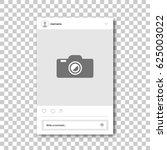 social network photo frame.... | Shutterstock .eps vector #625003022