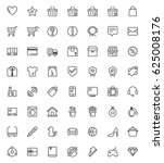 shopping vector  icon set with... | Shutterstock .eps vector #625008176
