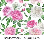 seamless floral pattern with... | Shutterstock . vector #625013576