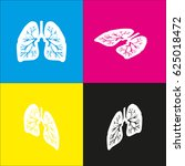 lungs of the person. vector.... | Shutterstock .eps vector #625018472