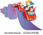 cinema roller coaster | Shutterstock .eps vector #625019438