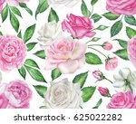 seamless floral pattern with... | Shutterstock . vector #625022282