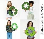 Set Diversity People Recycle Sign - Fine Art prints