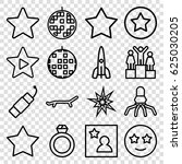 star icons set. set of 16 star... | Shutterstock .eps vector #625030205