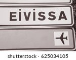 road traffic direction sign ... | Shutterstock . vector #625034105
