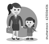 black and white mom and... | Shutterstock .eps vector #625036436