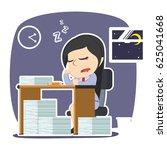 businesswoman sleeping while...   Shutterstock .eps vector #625041668