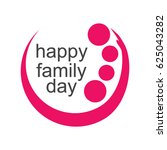 happy family day logo vector... | Shutterstock .eps vector #625043282