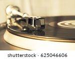 turntable vinyl record player.... | Shutterstock . vector #625046606
