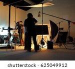 silhouette of people working in ... | Shutterstock . vector #625049912