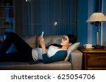 tiring female businesswoman... | Shutterstock . vector #625054706