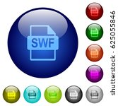 swf file format icons on round... | Shutterstock .eps vector #625055846