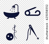 sewing icons set. set of 4... | Shutterstock .eps vector #625058552