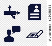 square icons set. set of 4... | Shutterstock .eps vector #625058558