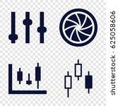 technique icons set. set of 4... | Shutterstock .eps vector #625058606