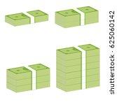 money stack sign. money stack...   Shutterstock .eps vector #625060142