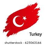 flag of turkey grunge | Shutterstock .eps vector #625063166