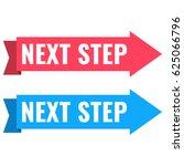 next step. vector ribbon set... | Shutterstock .eps vector #625066796