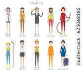 characters colection set | Shutterstock .eps vector #625068182