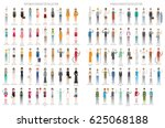 98 characters collection set | Shutterstock .eps vector #625068188