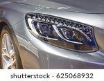close up of car headlights ...   Shutterstock . vector #625068932