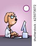 illustration of a business dog... | Shutterstock . vector #625073072