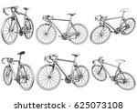 road bike. racing bike. bicycle.... | Shutterstock .eps vector #625073108