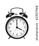 alarm clock shows four o clock... | Shutterstock . vector #62507968