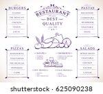 placemat design template vector ... | Shutterstock .eps vector #625090238