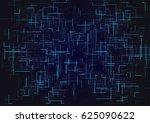 digital grid  big data abstract ...   Shutterstock .eps vector #625090622