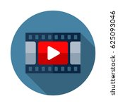 video icon. flat vector icon... | Shutterstock .eps vector #625093046