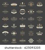 vintage logos design templates... | Shutterstock .eps vector #625093205