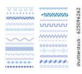 big set of decorative elements. ... | Shutterstock .eps vector #625096262