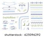 big set of decorative elements. ... | Shutterstock .eps vector #625096292