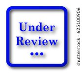 under review icon. under review ... | Shutterstock . vector #625100906
