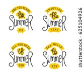 summer labels and design... | Shutterstock . vector #625104926
