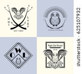 Logo Collection With Owl. Stoc...